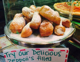 Zeppoli's filled with Cannoli Cream